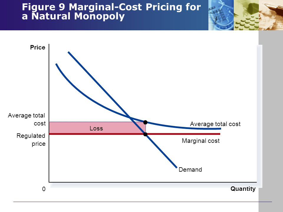 Figure 9 Marginal-Cost Pricing for a Natural Monopoly