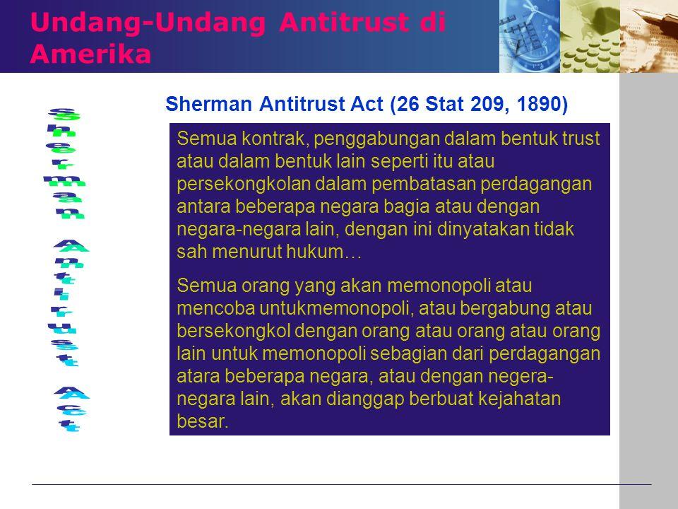 Undang-Undang Antitrust di Amerika