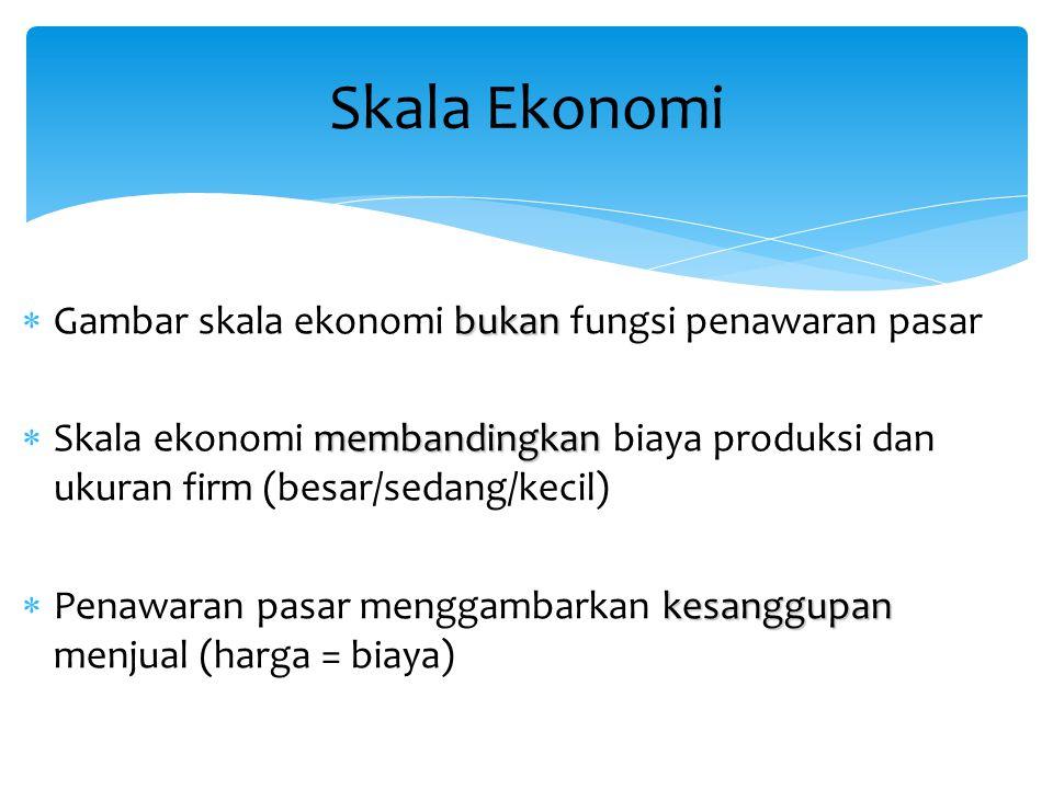 Skala Ekonomi Gambar skala ekonomi bukan fungsi penawaran pasar