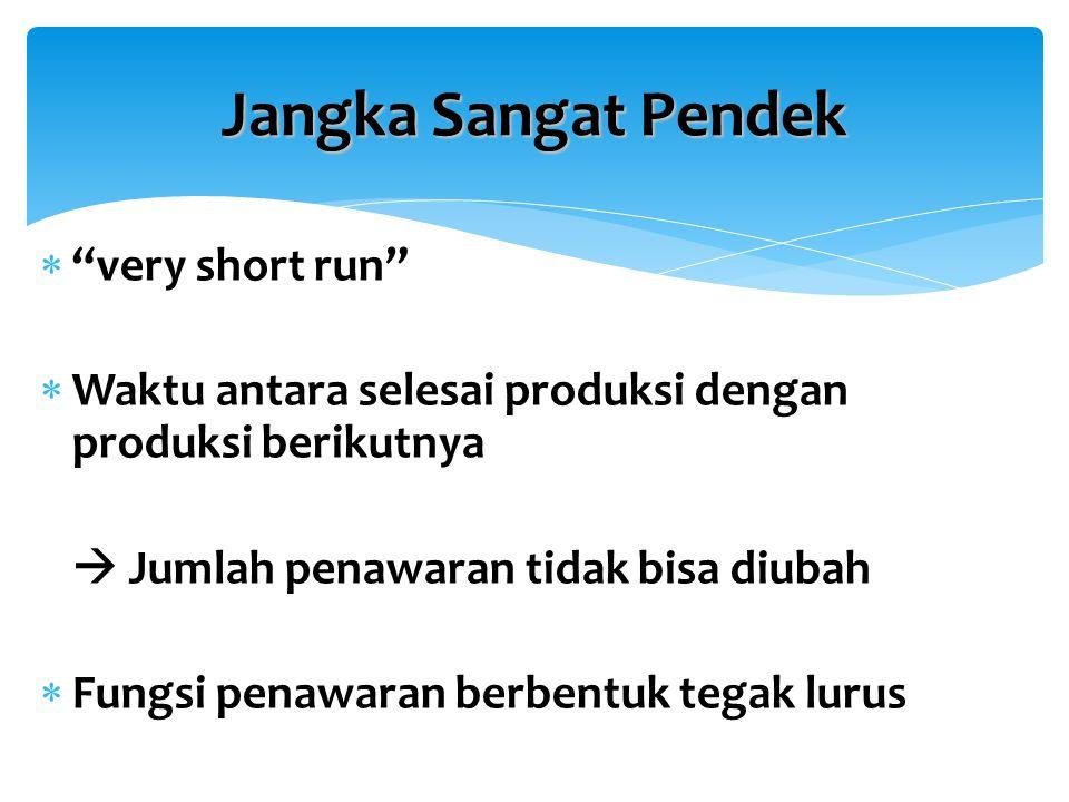 Jangka Sangat Pendek very short run