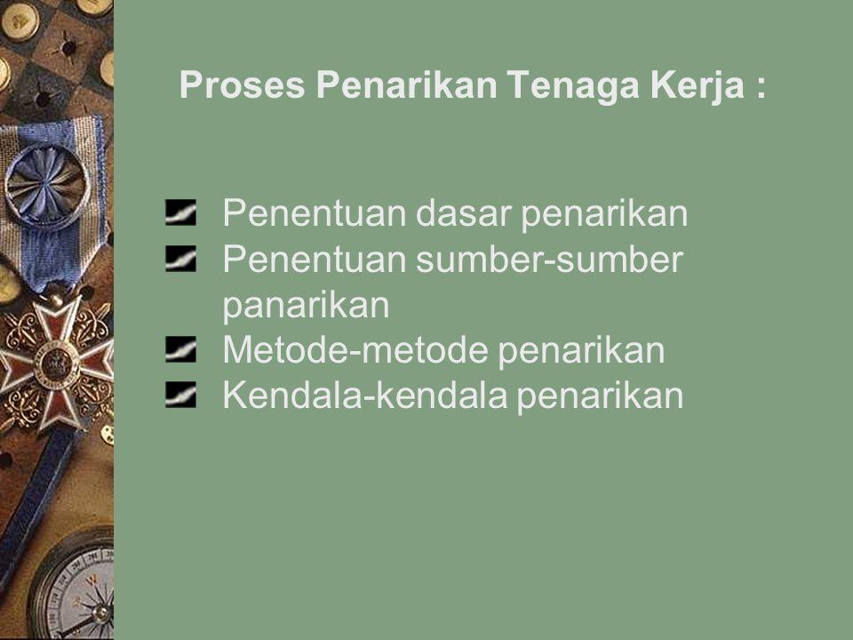 Proses Penarikan Tenaga Kerja :