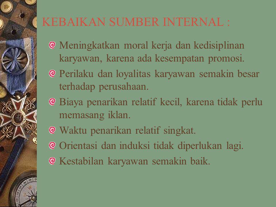 KEBAIKAN SUMBER INTERNAL :