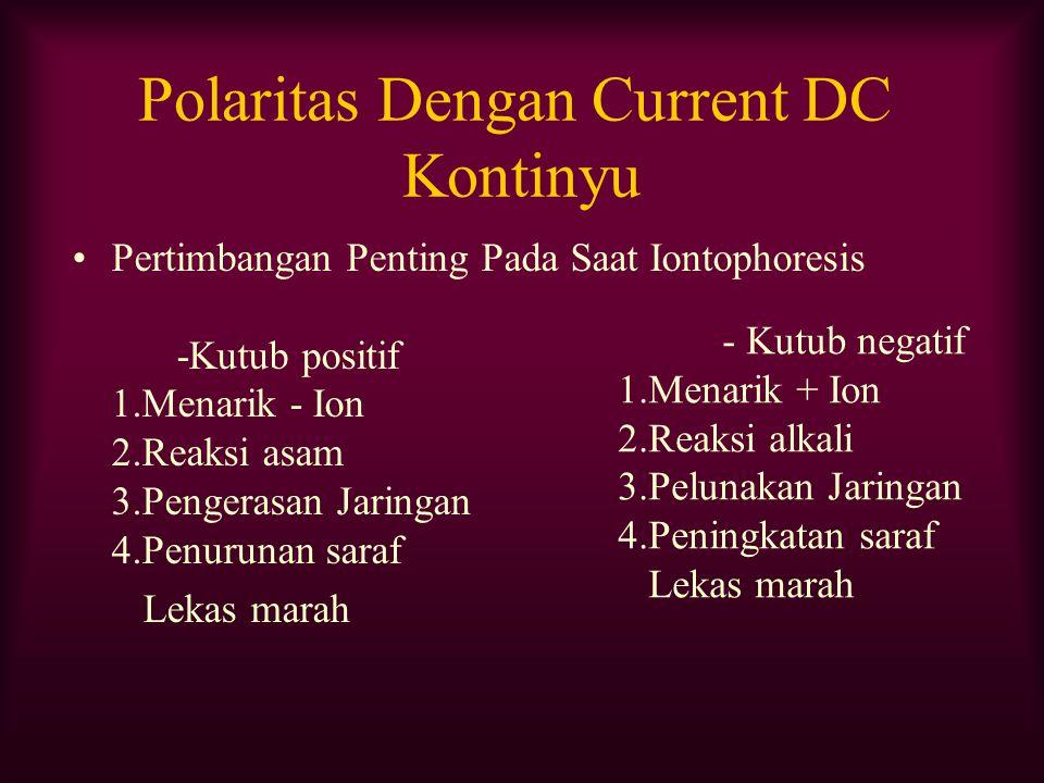Polaritas Dengan Current DC Kontinyu