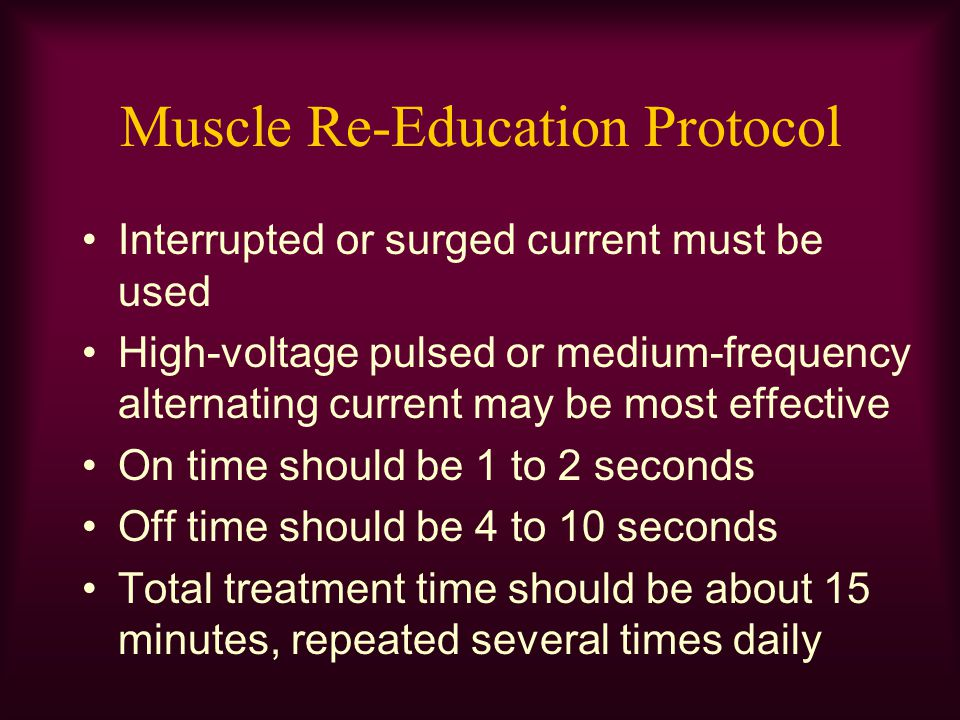 Muscle Re-Education Protocol