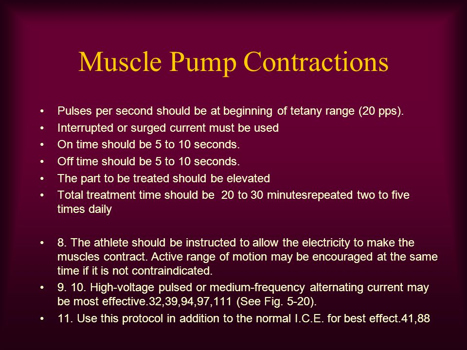 Muscle Pump Contractions