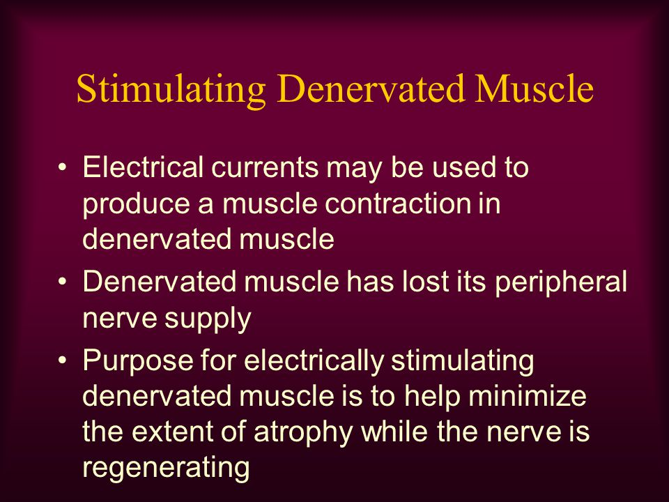 Stimulating Denervated Muscle