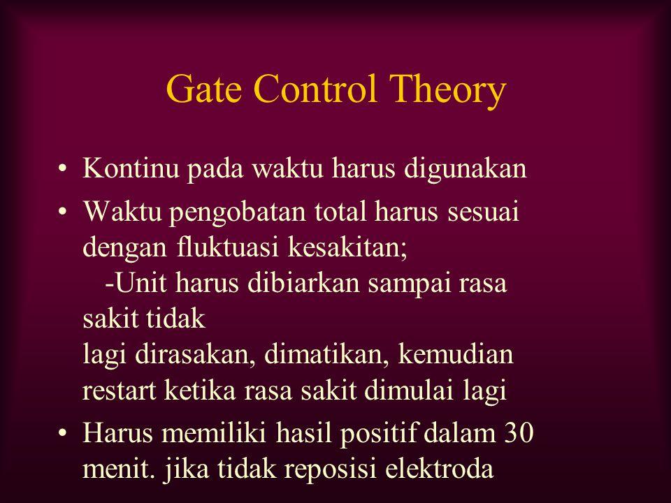 Gate Control Theory Kontinu pada waktu harus digunakan