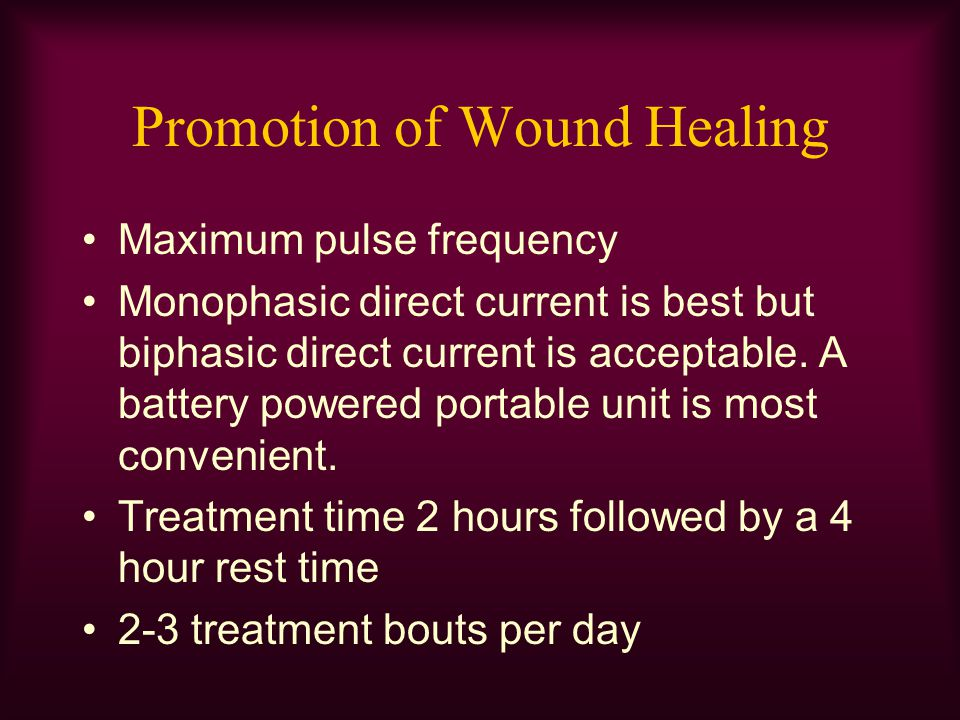 Promotion of Wound Healing