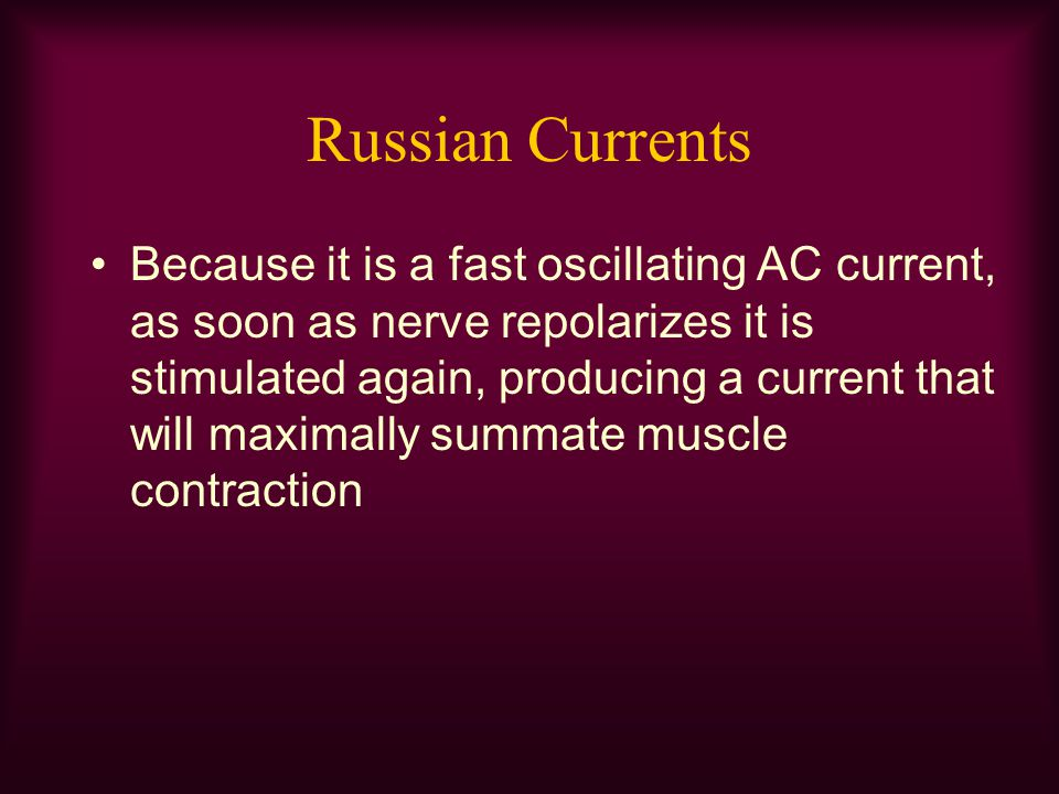 Russian Currents