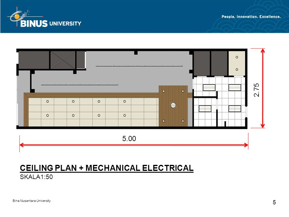 CEILING PLAN + MECHANICAL ELECTRICAL