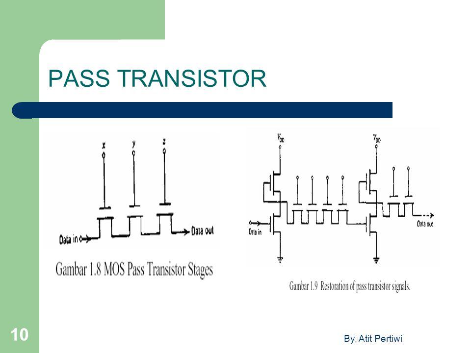 PASS TRANSISTOR By. Atit Pertiwi