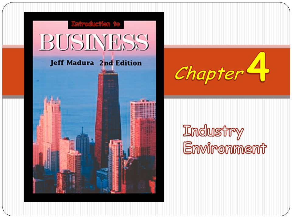 Introduction to 4 Chapter Industry Environment