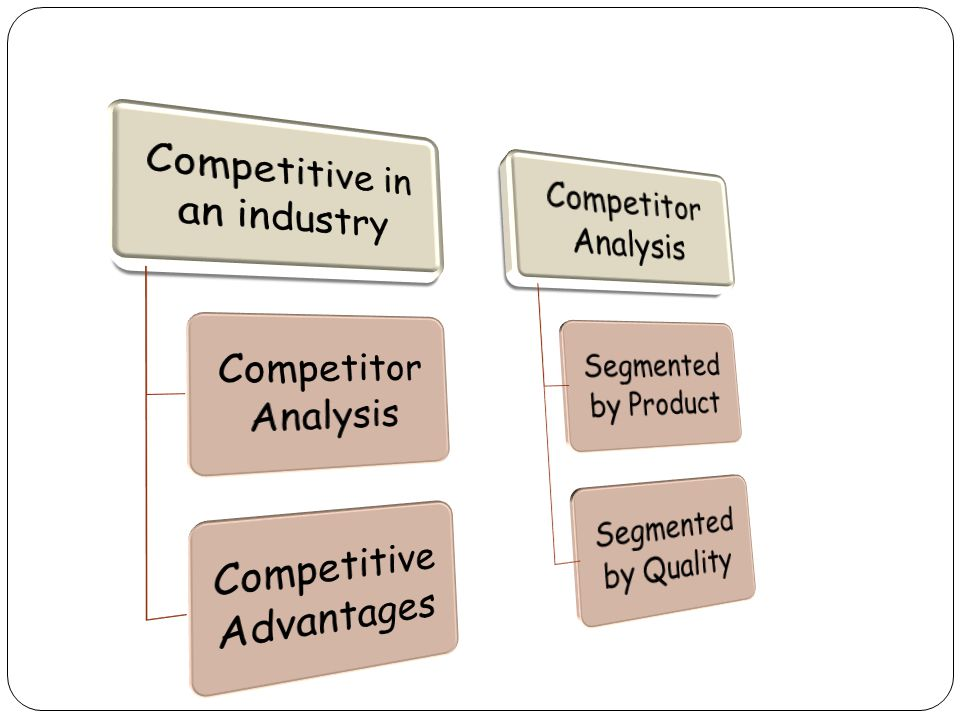 Competitive in an industry Competitor Analysis Competitive Advantages