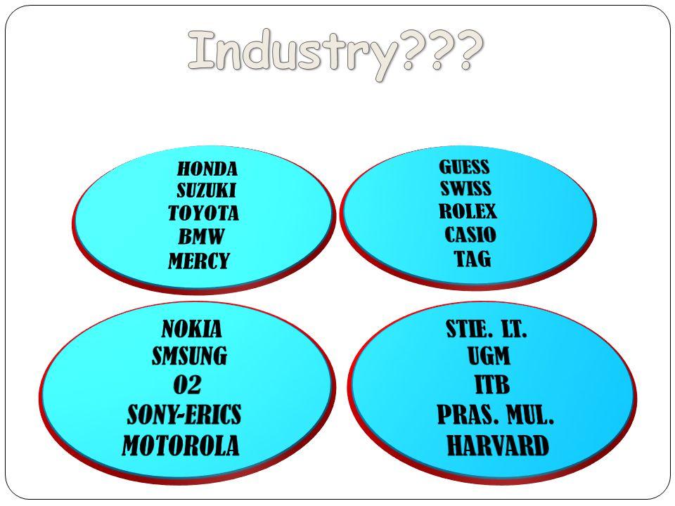 Industry HONDA SUZUKI TOYOTA BMW MERCY NOKIA SMSUNG O2 SONY-ERICS