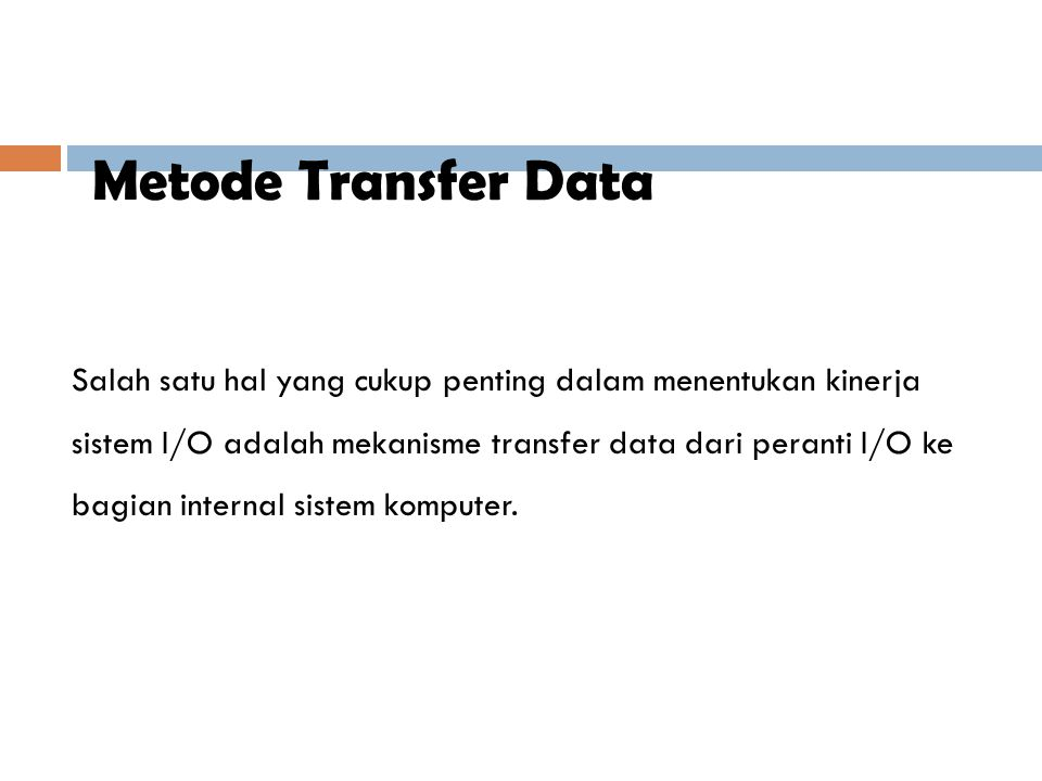 Metode Transfer Data