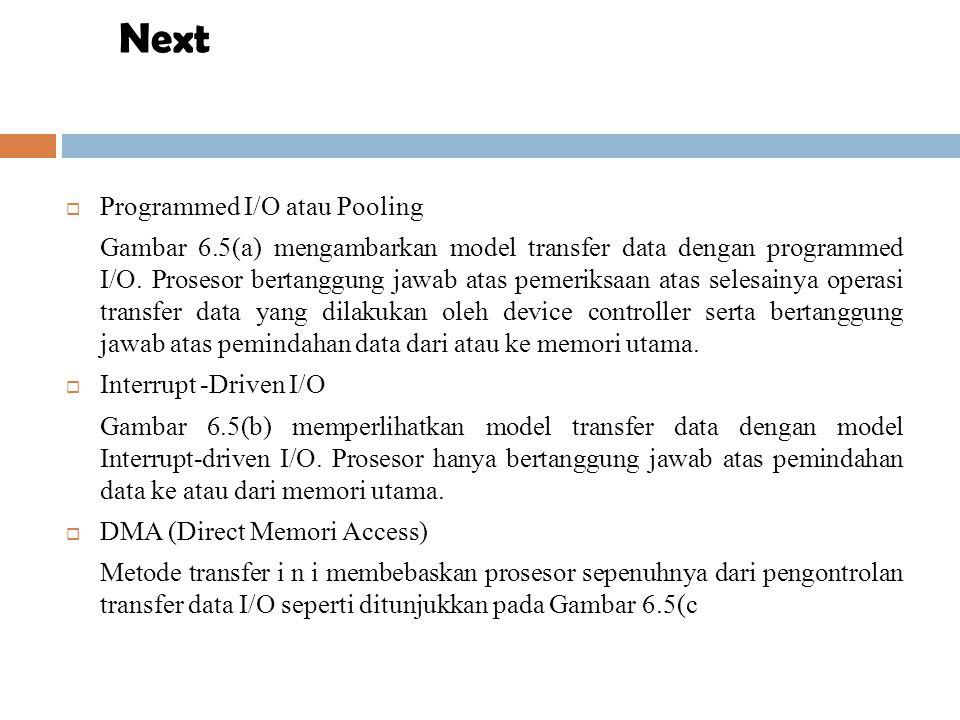 Next Programmed I/O atau Pooling