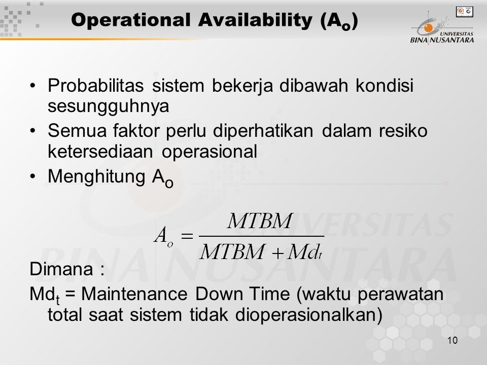 Operational Availability (Ao)