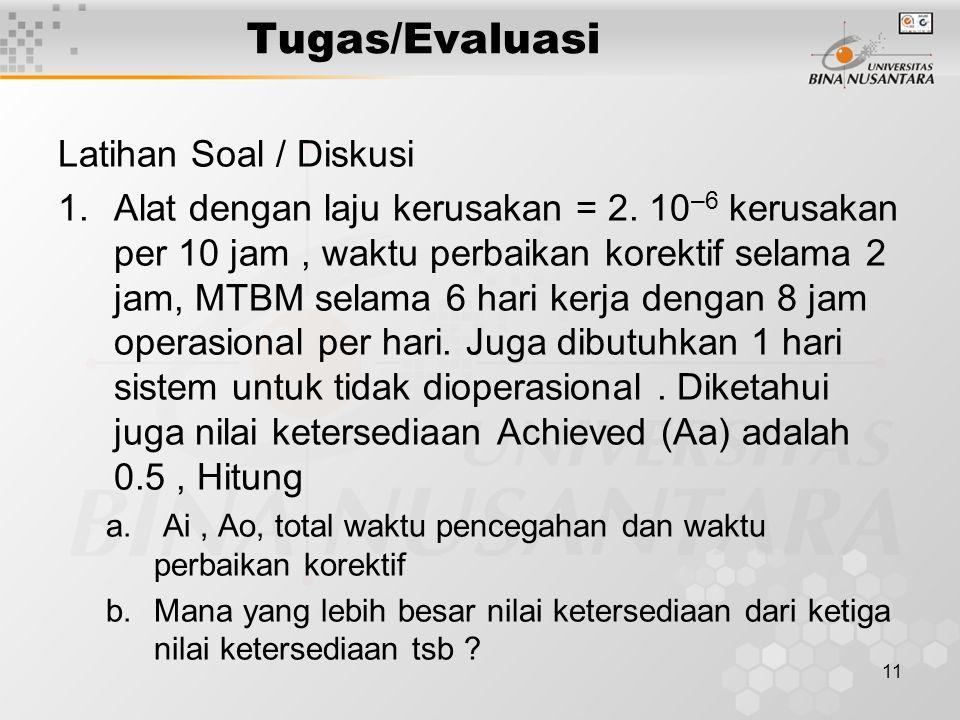 Tugas/Evaluasi Latihan Soal / Diskusi