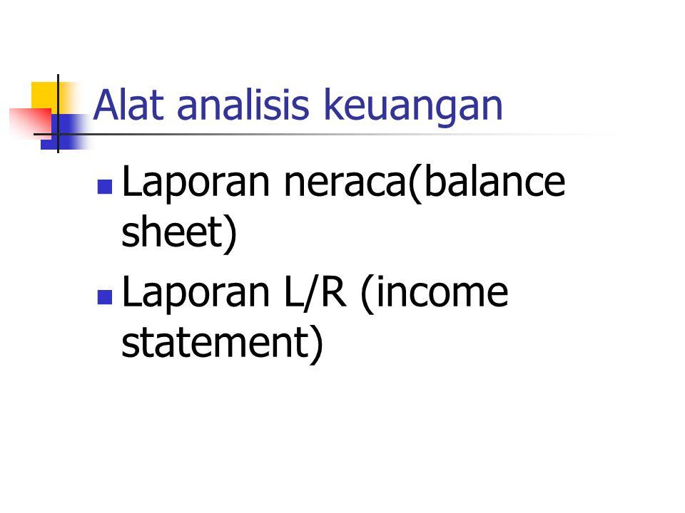 Alat analisis keuangan