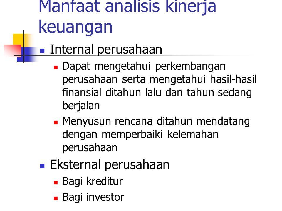 Manfaat analisis kinerja keuangan