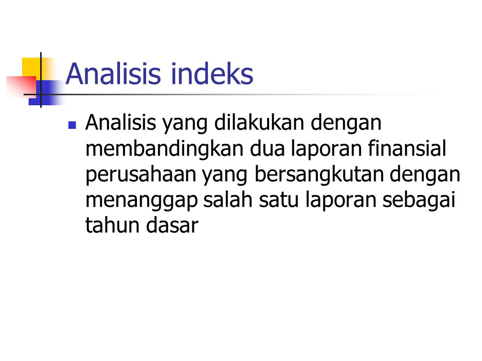 Analisis indeks