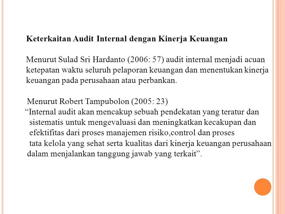 Keterkaitan Audit Internal dengan Kinerja Keuangan