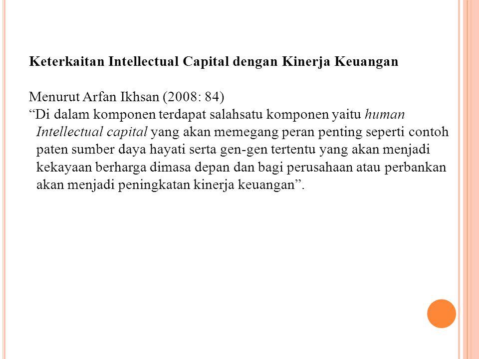 Keterkaitan Intellectual Capital dengan Kinerja Keuangan