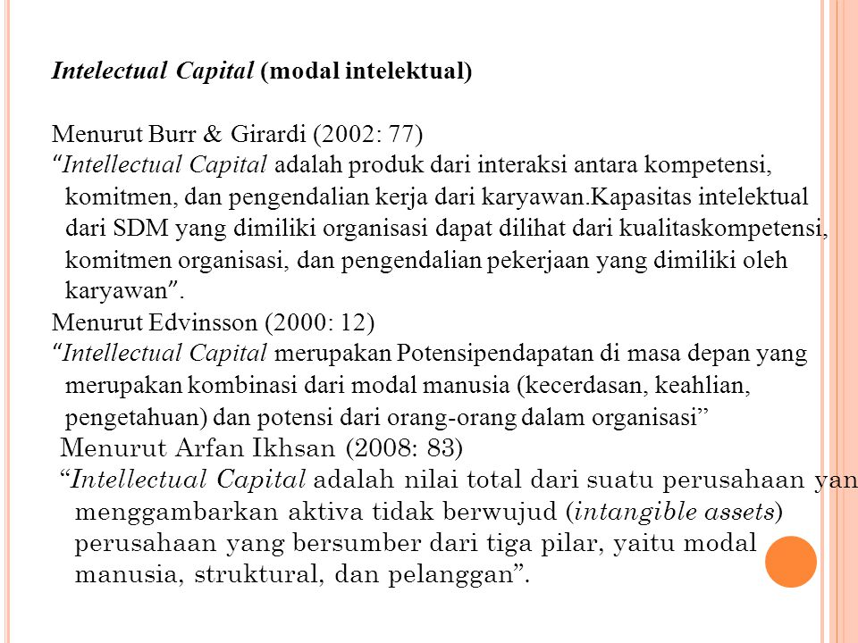 Intelectual Capital (modal intelektual)