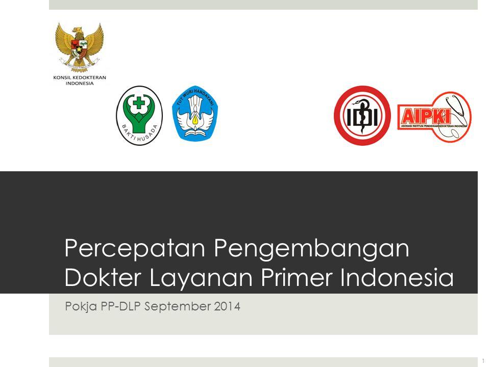 Percepatan Pengembangan Dokter Layanan Primer Indonesia