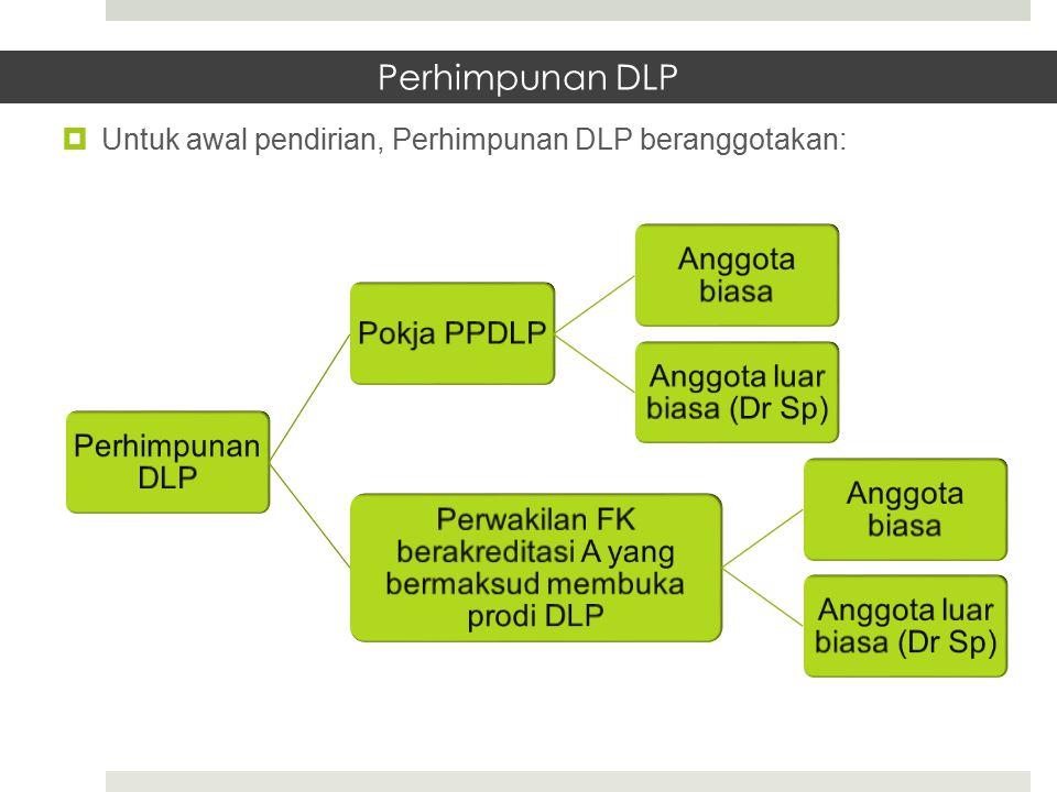 Perhimpunan DLP Untuk awal pendirian, Perhimpunan DLP beranggotakan: