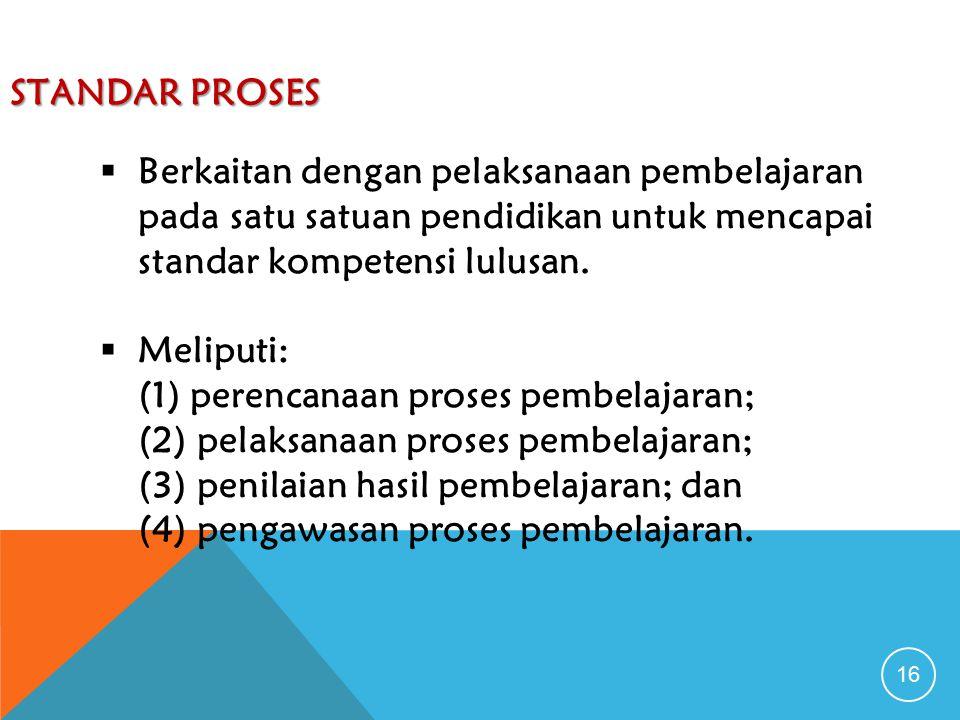 (1) perencanaan proses pembelajaran;