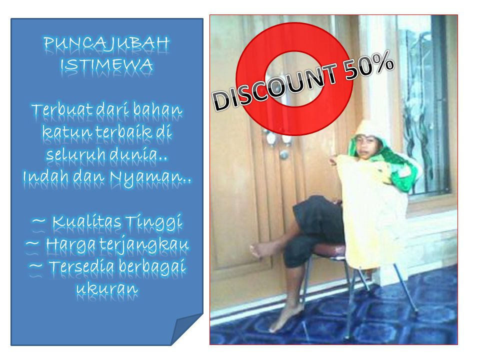 DISCOUNT 50% PUNCA JUBAH ISTIMEWA