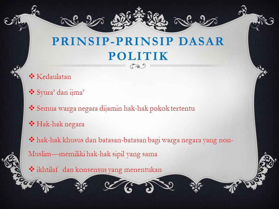 Prinsip-prinsip dasar politik