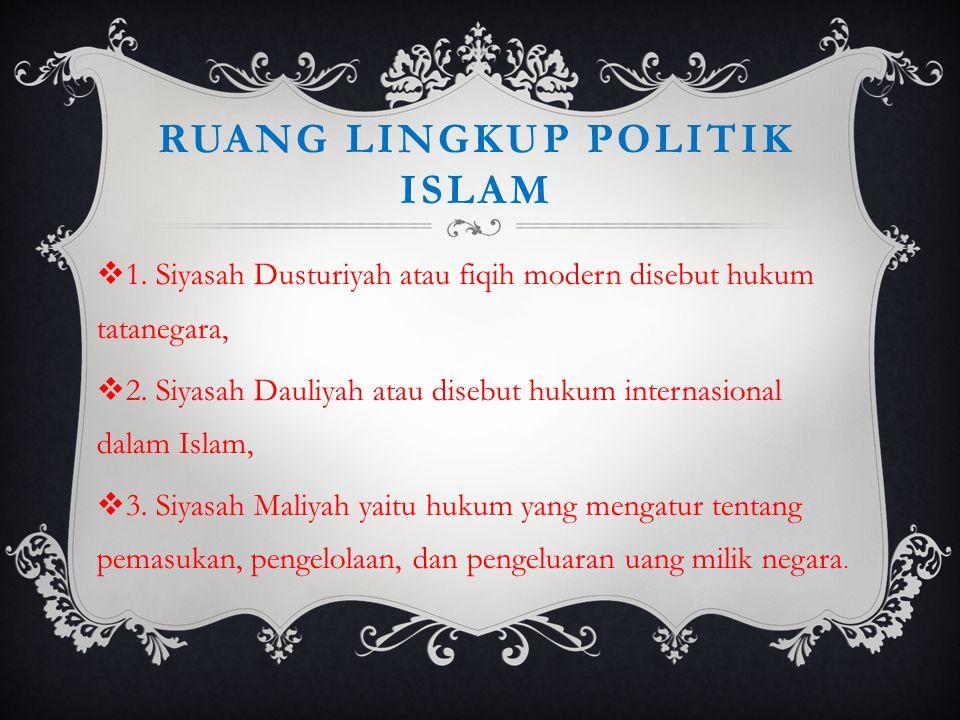 Ruang lingkup politik islam