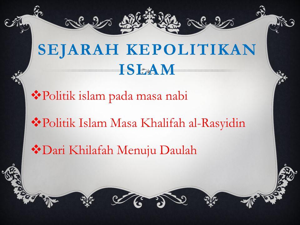 Sejarah kepolitikan islam