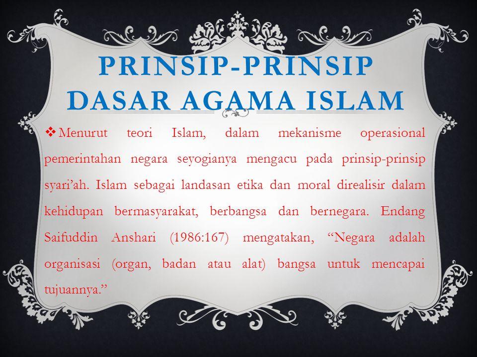 Prinsip-prinsip dasar agama islam