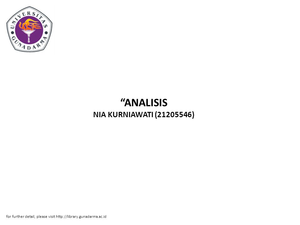 ANALISIS NIA KURNIAWATI (21205546)
