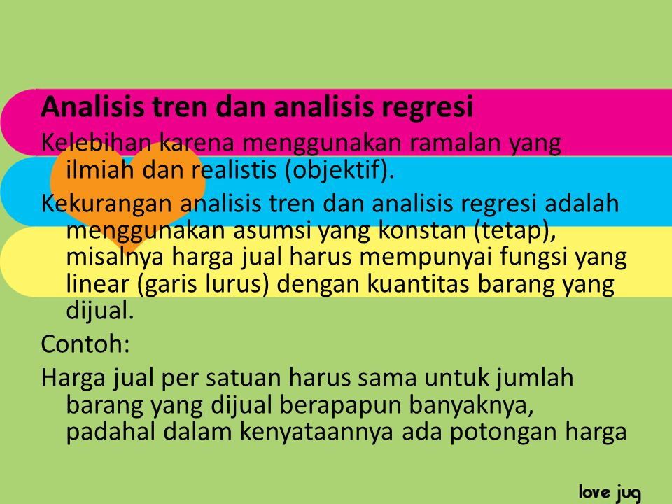 Analisis tren dan analisis regresi