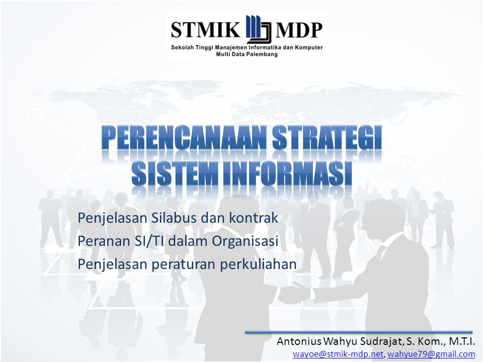 Penjelasan Silabus dan kontrak