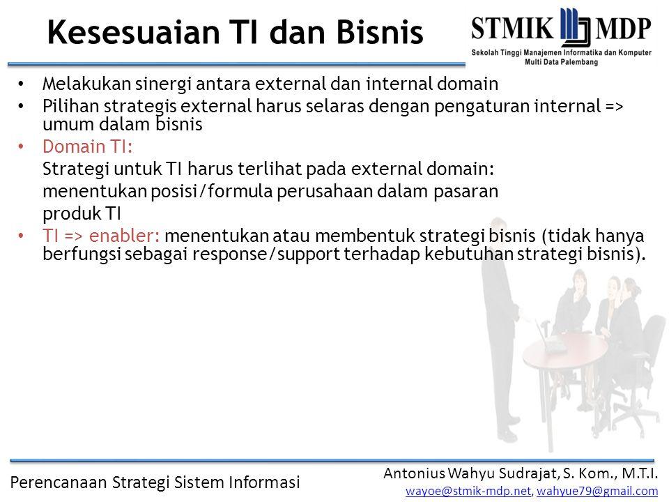 Kesesuaian TI dan Bisnis