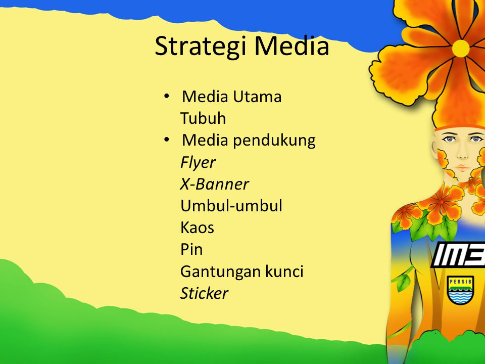 Strategi Media Media Utama Tubuh Media pendukung Flyer X-Banner