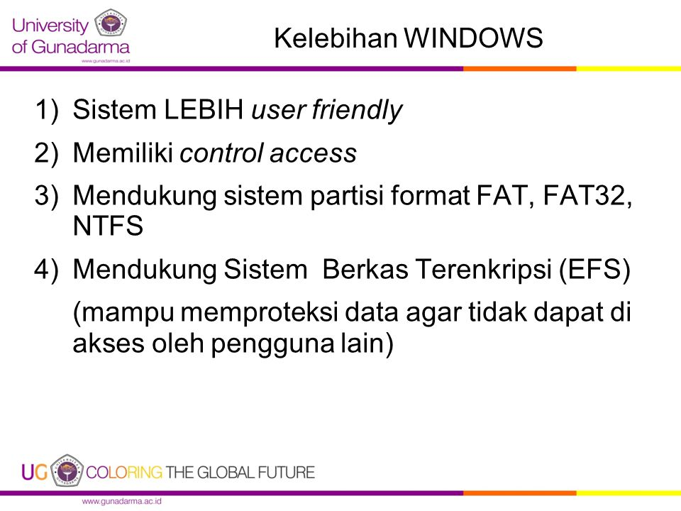Sistem LEBIH user friendly Memiliki control access