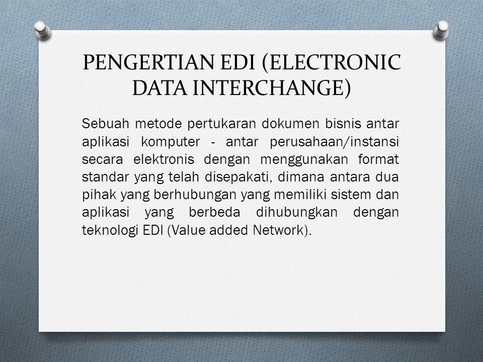 PENGERTIAN EDI (ELECTRONIC DATA INTERCHANGE)