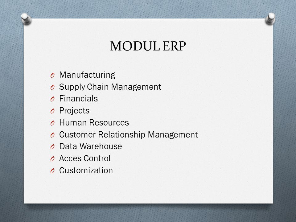 MODUL ERP Manufacturing Supply Chain Management Financials Projects