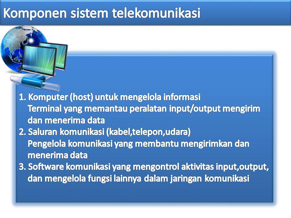 Komponen sistem telekomunikasi