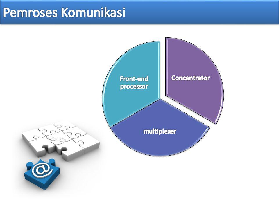 Pemroses Komunikasi Concentrator multiplexer Front-end processor