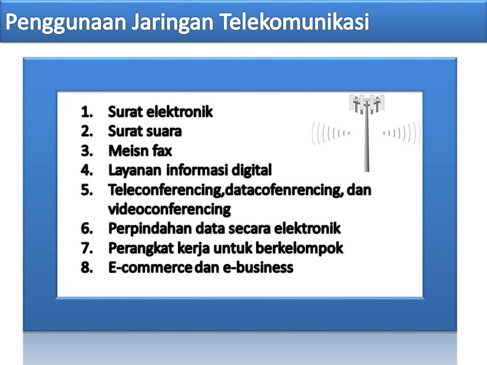 Penggunaan Jaringan Telekomunikasi