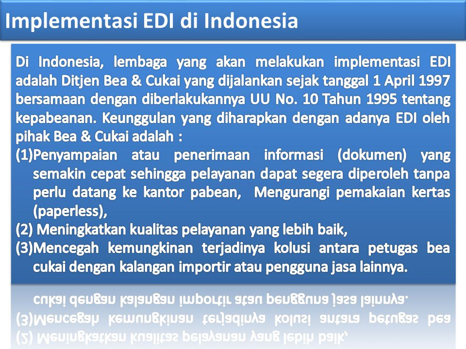 Implementasi EDI di Indonesia