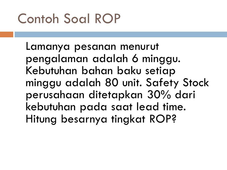 Contoh Soal ROP
