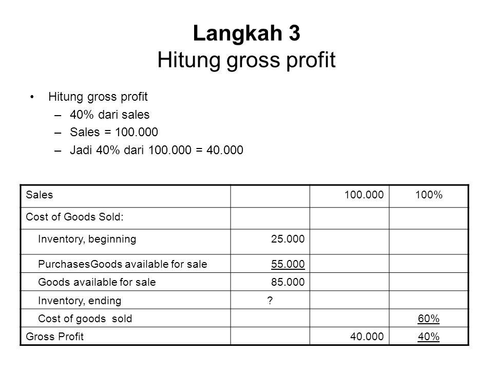 Langkah 3 Hitung gross profit